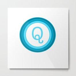 Blue letter Q Metal Print