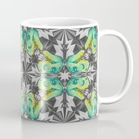 trex Mugs featuring T. Rex Ice Pattern by chobopop