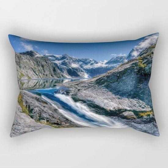 Mountain Creek #blue Rectangular Pillow