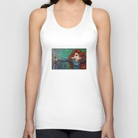 be brave Tank Tops featuring Brave by Kimberly Castello