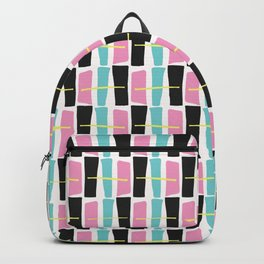 Memphis Style Geometric Abstract Seamless Drawn Pop Art Backpack
