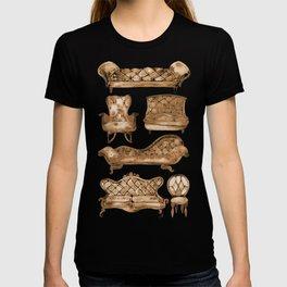 Victorian Lounge – Sepia Palette T-shirt