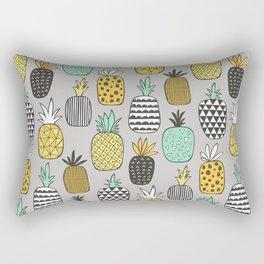 Pineapple Geometric on Grey Rectangular Pillow