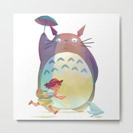Totoroo Umberella Metal Print