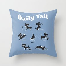 The Daily Tail Dog Throw Pillow