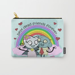 Best Dead Friends Forever - Steve the zombie & Violet the vapire Carry-All Pouch