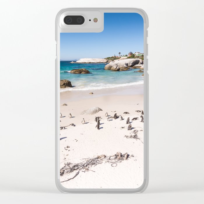 Penguins on Boulders Beach in Cape Town, South Africa Clear iPhone Case