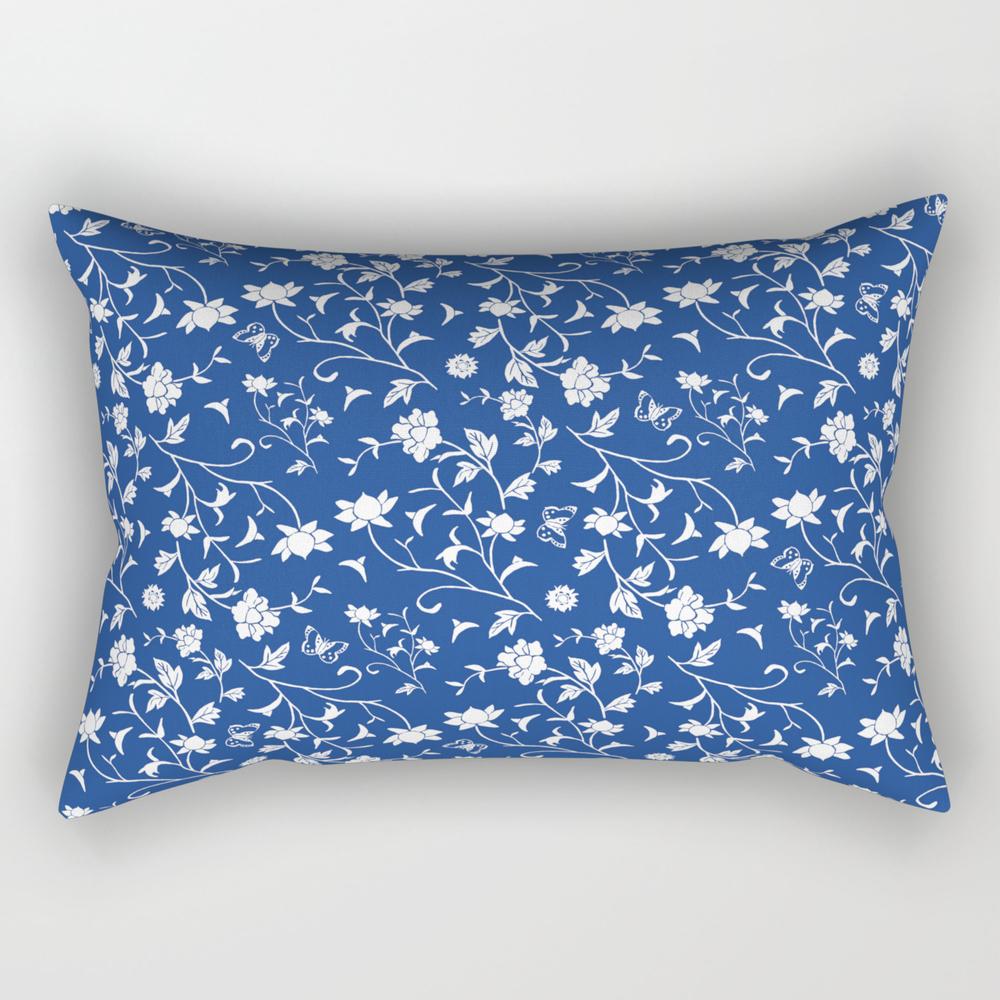 Blue China Rectangular Pillow RPW8102330
