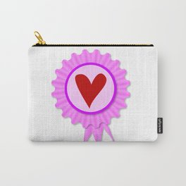 Love Heart Rosette Carry-All Pouch
