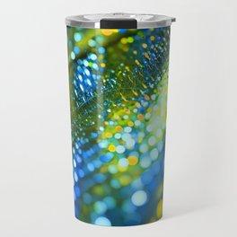 light green yellow bokeh abstract Travel Mug