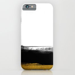 Black and Gold grunge stripes on clear white background - Stripe - Striped iPhone Case
