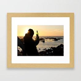 Wine at the Beach Framed Art Print