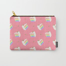 Watercolor Rainbow Cake Carry-All Pouch