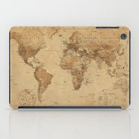 vintage map iPad Cases featuring VINTAGE MAP by Oksana Smith