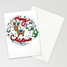 Reindeer Fun Stationery Cards
