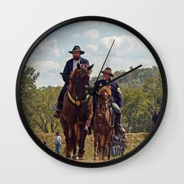 Weary Union Soldiers Wall Clock