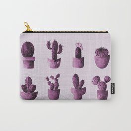 One cactus six cacti in pink Carry-All Pouch