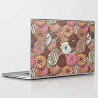 donuts Laptop & iPad Skins featuring Donuts by Mario Zucca
