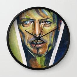 David Bowie painted portrait Wall Clock