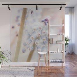 Muscari Art Print | Flower Photography | Atmospheric Grape Hyacinth Close-up Wall Mural