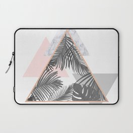 Tropical Marble Blush Pink Gray Copper Laptop Sleeve
