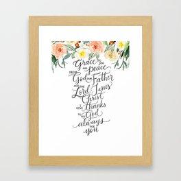 Grace & Peace Framed Art Print