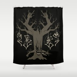 Headbangers Tree Shower Curtain