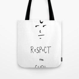 Respect the Curl Tote Bag