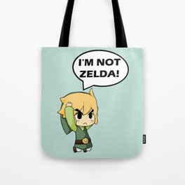 I'm not Zelda! (link from legend of zelda) Tote Bag