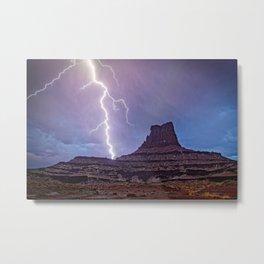 CANYONLANDS LIGHTNING STORM - MOAB UTAH NATIONAL PARK- LANDSCAPE NATURE PHOTOGRAPHY Metal Print