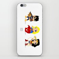 girl power iPhone & iPod Skins featuring Girl Power by Nate Kelly