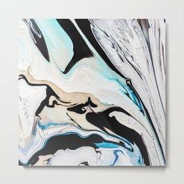 Paint marbled Metal Print