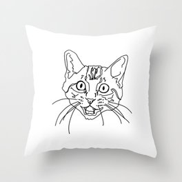 That Face My Cat Makes Throw Pillow