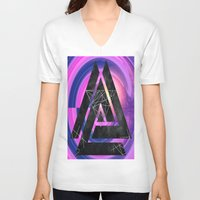 outer space V-neck T-shirts featuring fun in outer space by Healinglove art products