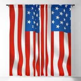 Patriotic American flag Blackout Curtain