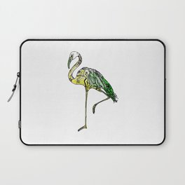 Yellow Flamingo Illustration Laptop Sleeve