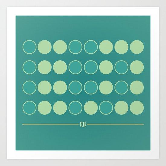 Geek in Binary Art Print