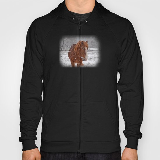 Horse in the snow Hoody