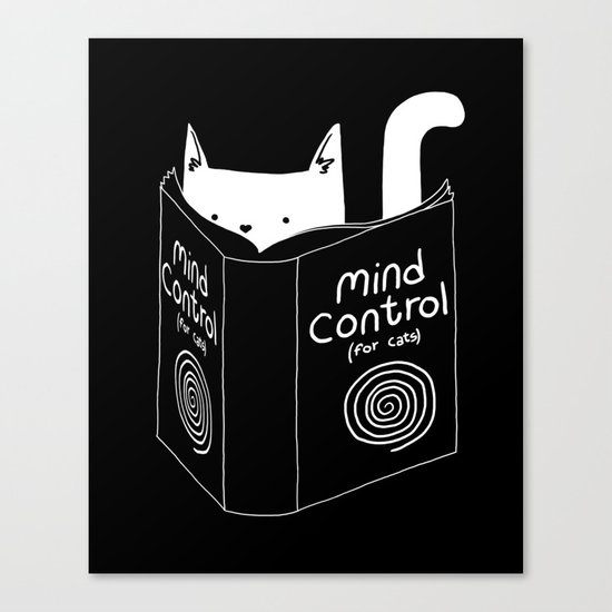 Mind Control 4 Cats Canvas Print