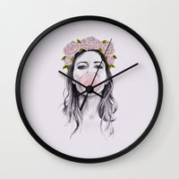 bubble Wall Clocks featuring Bubble by Libby Watkins Illustration