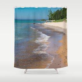 Lake_Michigan Beach, Charlevoix - III Shower Curtain