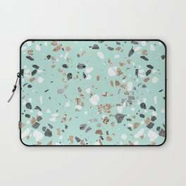 Glitter and Grit Marble Mint Green Laptop Sleeve