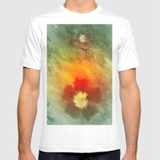 Summer floral wallpapaer. White Mens Fitted Tee MEDIUM