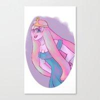 princess bubblegum Canvas Prints featuring Princess Bubblegum by Caliginous Art