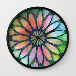 Tropical Flower Dream Wall Clock