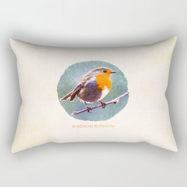 Erithacus Rubecula Rectangular Pillow
