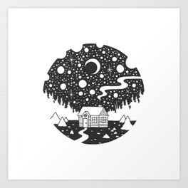 Cosmic Cabin Art Print