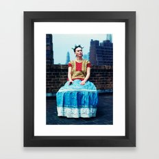 FRIDA IN NEW YORK Framed Art Print