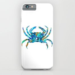 Blue Crab Art by Sharon Cummings iPhone Case