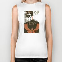 dick Biker Tanks featuring Dick by Shop 5